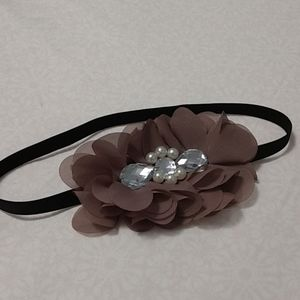 RW&CO jeweled flower elastic headband